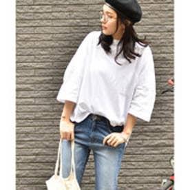 コカ coca ポケット付きコットンビッグTシャツ (White)