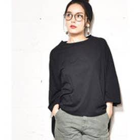 コカ coca ポケット付きコットンビッグTシャツ (Black)