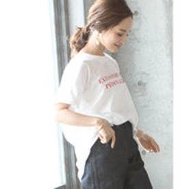 コカ coca シンプル英字プリントカットソー (White)