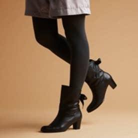 コカ COCA バックリボン付きショートブーツ(ブラック)
