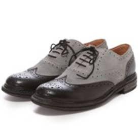 ロンドンシューメイク London Shoe Make グッドイヤーウエルトオールレザーハンドメイドバイマテリアルウィングチップ(ブラックコンビ)