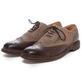 ロンドンシューメイク London Shoe Make グッドイヤーウエルトオールレザーハンドメイドバイマテリアルウィングチップ(ダークブラウンコンビ)