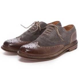 ロンドンシューメイク London Shoe Make グッドイヤーウエルトオールレザーハンドメイドバイマテリアルウィングチップ(ブラウンコンビ)