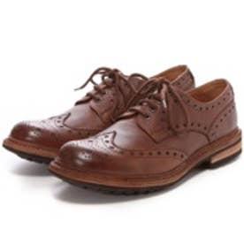 ロンドンシューメイク London Shoe Make グッドイヤーウエルトオールレザーハンドメイドラグソールカントリーシューズ(ブラウン)