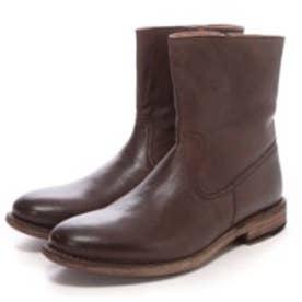 ロンドンシューメイク London Shoe Make グッドイヤーウエルトオールレザーハンドメイドジップアップハーフブーツ(ダークブラウン)