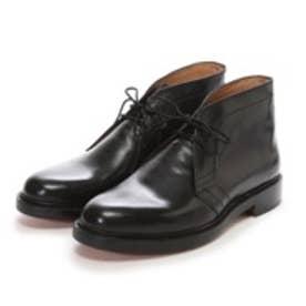 ロンドンシューメイク London Shoe Make グッドイヤーウエルトオールレザーハンドメイドスタンダードチャッカーブーツ(ブラック)