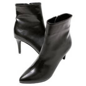 ティティベイト titivate シンプルショートブーツ (PU/ブラック)