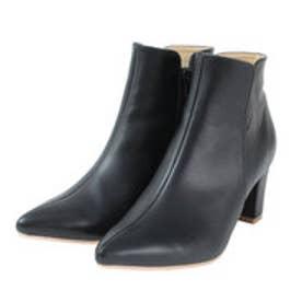 ティティベイト titivate ポインテッドトゥ7cmヒールショート丈ブーツ (PU/ブラック)