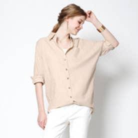 ティティベイト titivate 7分袖ビッグシャツ (ベージュ)