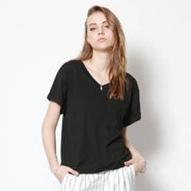 ティティベイト titivate ポケットVネックTシャツ (ブラック)