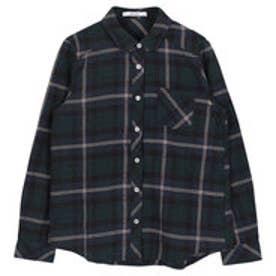 ティティベイト titivate 起毛チェックシャツ (パターン2/グリーン)