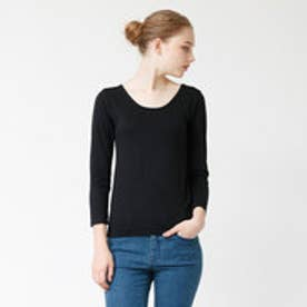 ティティベイト titivate ヒートUネック9分袖Tシャツ/BEAUTY HEAT (ブラック)