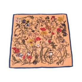 ティティベイト titivate フラワープリントスカーフ (オレンジ)