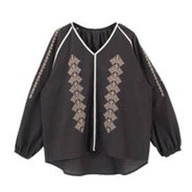 ティティベイト titivate エスニック刺繍ブラウス (ブラック)