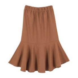 ティティベイト titivate コットン裾フレアスカート (ブラウン)