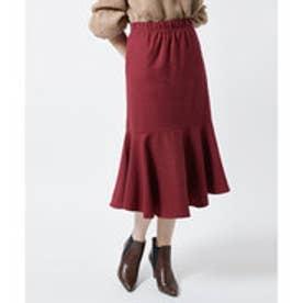 ティティベイト titivate コットン裾フレアスカート (ワイン)