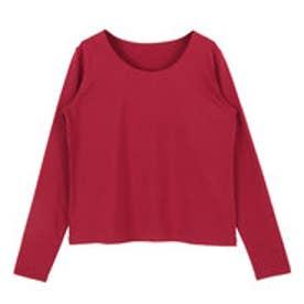 ティティベイト titivate シンプルロングTシャツ (レッド)
