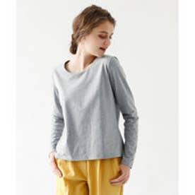ティティベイト titivate シンプルロングTシャツ (杢グレー)
