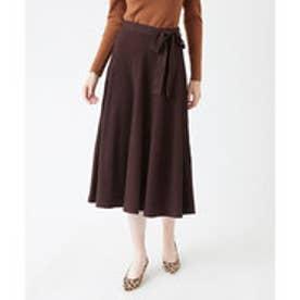 ティティベイト titivate プリーツライクフレアニットスカート (ブラウン)