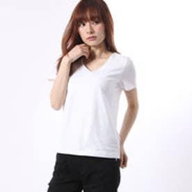 ミージェーン me Jane 前二重V/NTシャツ (ホワイト)