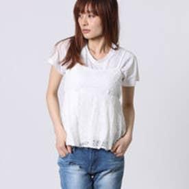 ミージェーン me Jane レースキャミ×Tシャツセット (ホワイト)