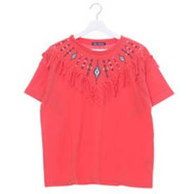 ミージェーン me Jane オルテガ刺繍フリンジTシャツ (レッド)