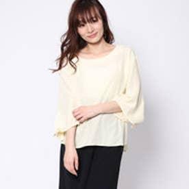 ミージェーン me Jane 袖リボンスキッパーシャツ (イエロー)