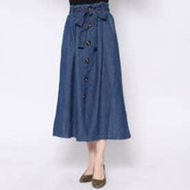 ミージェーン me Jane チノトレンチスカート (ブルー)