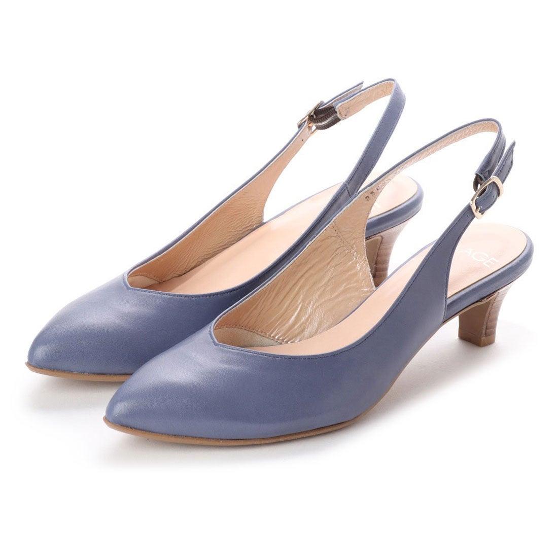 ロコンド 靴とファッションの通販サイトフラッグFLAGサラサラバックストラップパンプス(BU)