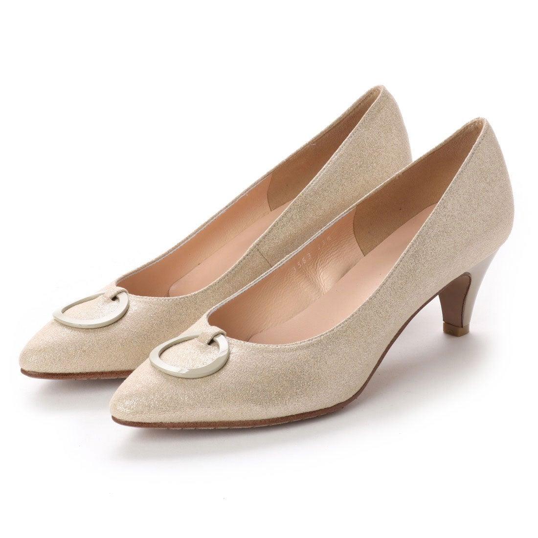 ロコンド 靴とファッションの通販サイトフラッグFLAGバックル付きサラサラパンプス(BG)