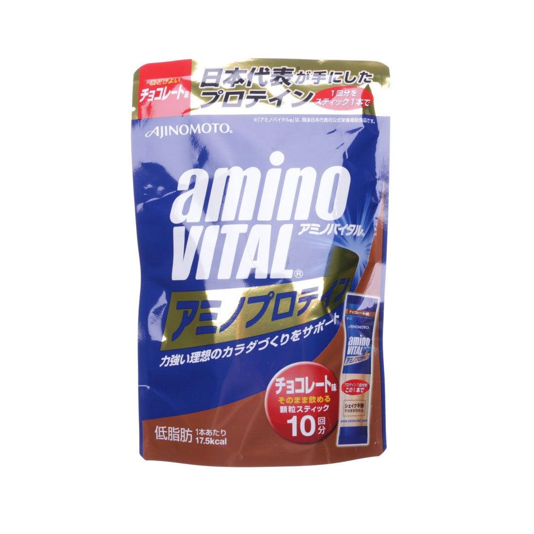 アミノバイタル AminoVital プロテイン 「アミノバイタル」アミノプロテインチョコレート味10本入パウチ 3420150600