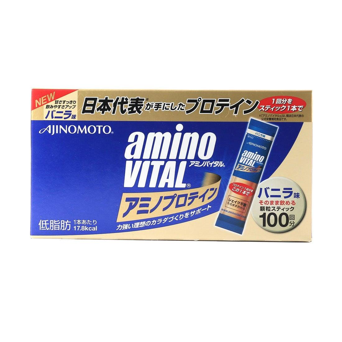 アミノバイタル AminoVital プロテイン 「アミノバイタル」アミノプロテインバニラ味100本入箱 3420150400