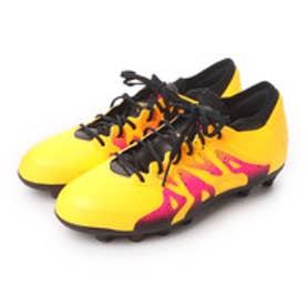 アディダス adidas ジュニアサッカースパイク エックス X 15.1ージャパン HG J AF5604 2768 (ソーラーゴールド×コアブラック×ショックピンク S16)