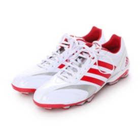 アディダス adidas 野球スパイク アディピュア adiPURE ポイント 2 low S85342 (クリスタルホワイト S16/パワーレッド/パワーレッド)