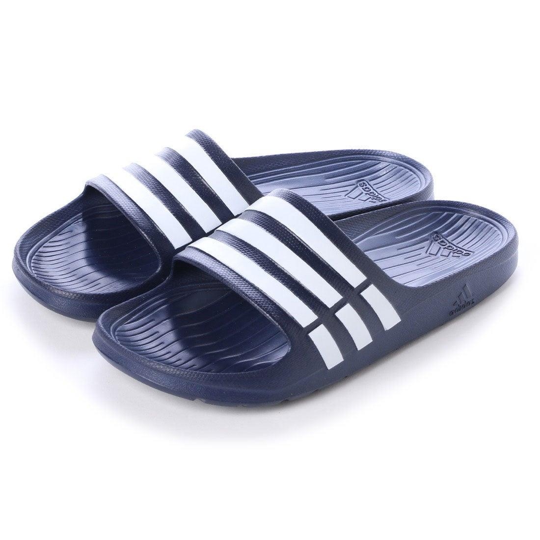 アディダス adidas サンダル デュラモスライド DURAMO SLIDE G15892 395 (ニュネイビー×ホワイト) レディース メンズ