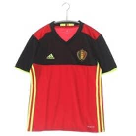 アディダス adidas ジュニアサッカーレプリカシャツ KIDSベルギー代表 ホーム レプリカユニフォーム半袖 AA8743 (スカーレット×ブラック)