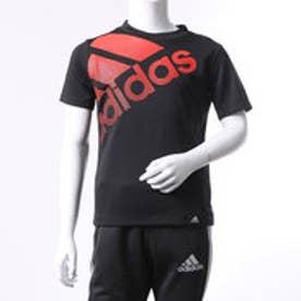 アディダス adidas ジュニア 半袖機能Tシャツ BOY TRN フェイディングビッグロゴ T BQ6375