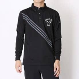 アディダス adidas ゴルフシャツ JP ADICROSS マイクロアローストライプ L/S B.D. ポロ BCW94 ブラック (ブラック)