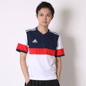 アディダス adidas サッカープラクティスシャツ KONN16 ゲームジャージー 半袖 AJ1362  (ホワイト×カレッジネイビー)