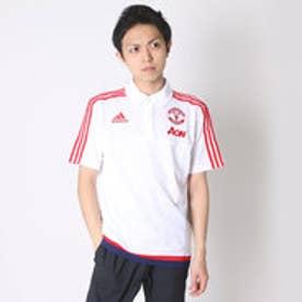アディダス adidas サッカーポロシャツ マンチェスターユナイテッドFC トレーニング ポロシャツ AI7354  (ホワイト×スカーレット)