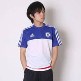 アディダス adidas サッカープラクティスシャツ チェルシー トレーニング ジャージ AC4960  (ホワイト×チェルシーブルー)