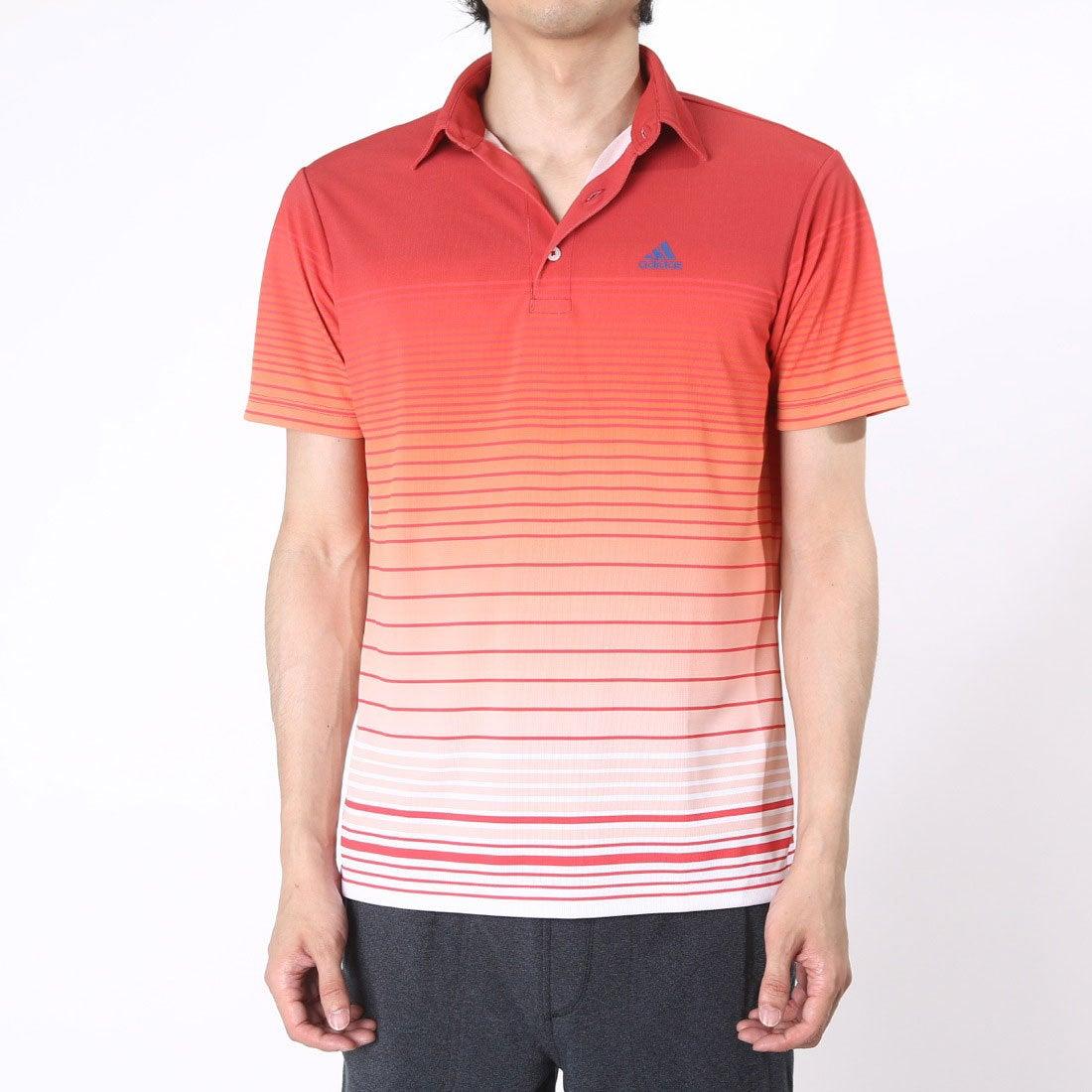 【SALE 55%OFF】【アウトレット】アディダス adidas ゴルフシャツ JP CP グラデーションボーダーS/Sポロ CCG33 (レッド) メンズ