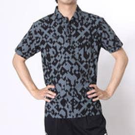 【アウトレット】アディダス adidas ゴルフシャツ JP CP デジタルプリントS/Sウーブンポロ CCG36 (ブラック)