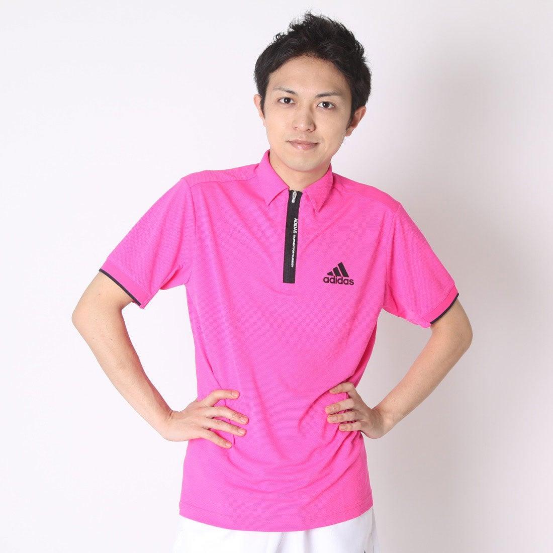 【SALE 55%OFF】【アウトレット】アディダス adidas ゴルフシャツ JP CP オーバルジャガードS/Sポロ CCG24 (ショックピンク) メンズ