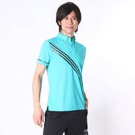【アウトレット】アディダス adidas ゴルフシャツ JP CP トライアングルプリントS/Sポロ CCG34 (ショックグリーン)