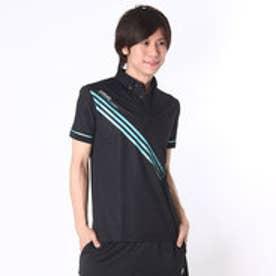 【アウトレット】アディダス adidas ゴルフシャツ JP CP トライアングルプリントS/Sポロ CCG34 (ブラック)