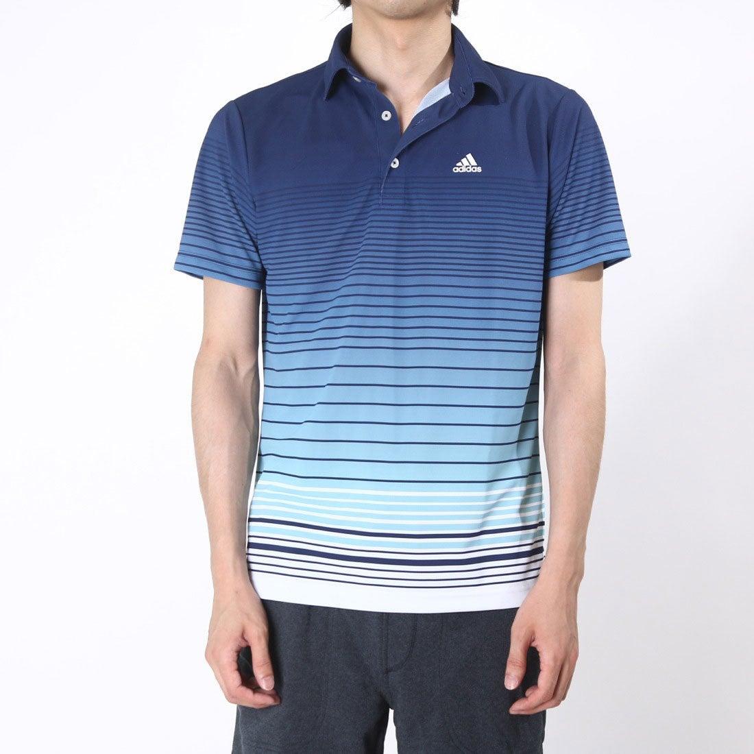 【SALE 55%OFF】【アウトレット】アディダス adidas ゴルフシャツ JP CP グラデーションボーダーS/Sポロ CCG33 (ネイビー) メンズ