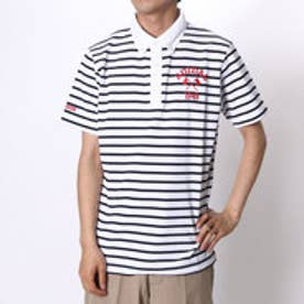 【アウトレット】アディダス adidas ゴルフシャツ JP SP クレリックボーダーS/Sポロ CCG54 (ホワイト)