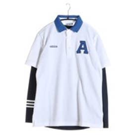 【アウトレット】アディダス adidas ゴルフシャツ JP SP レイヤードポロ CCG57 (ホワイト)