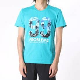 アディダス adidas 半袖Tシャツ SC トロピカルナンバリングTシャツ M AK1015 (ピーコックブルー)